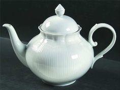 White teapots.