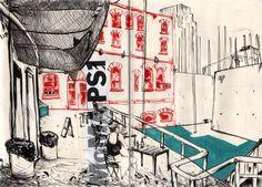 NYC Sketchbook by Robert Scholten, via Behance