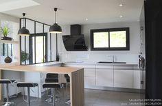 Décoration et aménagement d'un séjour / cuisine de 60m2, Samantha…
