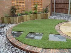 Contemporary Circular Garden Design Circular Garden Design, Circular Lawn, Modern Garden Design, Contemporary Garden, Landscape Design, Modern Design, Landscape Architecture, Backyard Ideas For Small Yards, Small Backyard Design