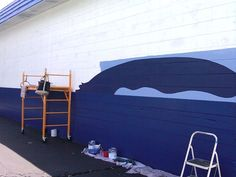 Day forty two it s dolphin day at the clearwater mural today marks