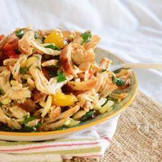 Italian Chicken Salad - chicken - red bell pepper - yellow bell pepper ...
