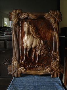 """Born Free"" - CNC 3D carving"