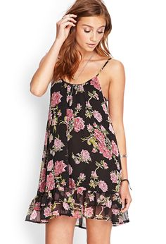 Ruffled Floral Cami Dress #SummerForever