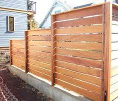 Image result for horizontal fence