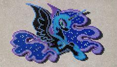 Nightmare Moon Perler Bead Art by HexfloogCrafts on Etsy