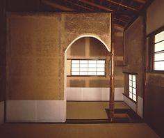 [Omote senke] tea room: Yodominoseki Doan-gakoi.  [表千家不審菴]再興された千家屋敷:澱看席 道安囲