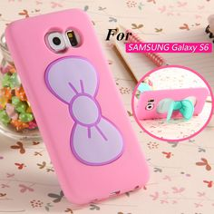 S6 3D Cute Cover Case For Samsung Galaxy S6 G9200 Lovely Bow Stand Holder Tops Sweet Butterfly Colorful Gift For Girl Lady Capa-in Phone Bags & Cases from Phones & Telecommunications on Aliexpress.com | Alibaba Group