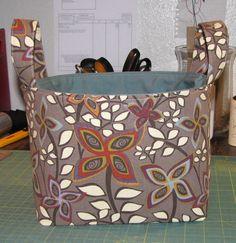 Fabric Organizer Bin (aka Diaper Caddy) – Sewing Tutorial and Free Pattern Download » Radcrafter