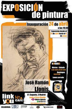 Semana de inauguración!, no se puede empezar mejor la semana ;) Inauguración de Exposición de Pintura en Link You art&cafe Próximo viernes 24 de abril a partir de las 19:30 le invitamos a la inauguración de la exposición de pintura José Ramón Llonis. Te esperamos en Link You art&cafe C/ Sagunto, 3 Madrid Metro Iglesia #linkyouartcafe #JoseRamonLlonis #exposicion #arte #art #oleo #acrilico #dibujo #artemadrid #ociomadrid #madrid #chamberi #metroiglesia