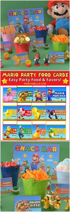 Download the Super Mario Birthday Party Food Cards! We love Mario in our family and