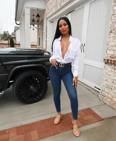 40 Stunning Casual Work Outfit for Black Women Dressy Outfits, Sexy Outfits, Stylish Outfits, Fall Outfits, Fashion Outfits, Womens Fashion, Jeans Fashion, Work Outfits, Summer Outfits