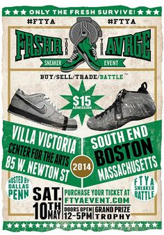 May 10th 2014 if your in the Boston and surrounding areas the only place to be is the FTYA THAN YOUR AVRGE: Sneaker Event! For more info visit us at WWW.FTYAEVENT.COM