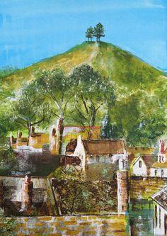 Colmer's Hill from Bridport - mixed media