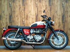 red and white custom triumph bonneville | GooBike Exchange- TRIUMPH TRIUMPH BONNEVILLE T100 | 2013 | 7,206 km ...