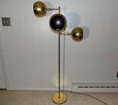 Koch & Lowy OMI Eyeball Orb floor lamp brass mid century modern atomic As-Found #MidCenturyModern #KochLowy