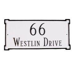 New Yorker 2-Line Rectangle Address Plaque - PCS-27E-S/G-LS, MM428-74