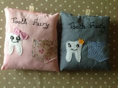 homemade tooth fairy cushion by EffiesRags on Etsy