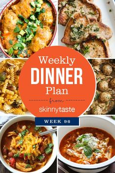 Skinnytaste Dinner Plan (Week 96)
