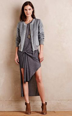 Gathered Knit Tunic #anthrofave