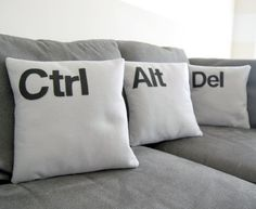 Throw pillows. I don't think I would actually use these, but the nerd in me is a tad tempted...