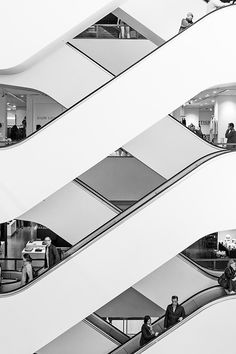 CPH // Down is The New Up, Illum, Copenhagen, Denmark (via Architecture… Architecture Design, Stairs Architecture, Photo Hacks, Stairways, Belle Photo, Black And White Photography, Street Photography, Photo Art, Photos