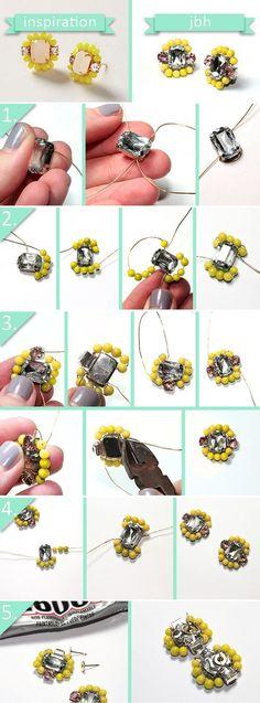 DIY Anthro-Inspired Beaded Earrings | DIY Anthropologie Inspired Jewelry by DIY Ready at http://diyready.com/diy-decor-anthropologie-hacks/