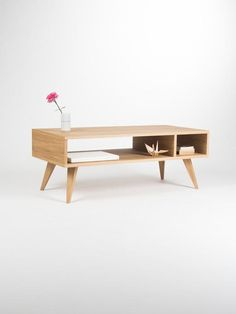 Our coffee table is a piece of furniture, which thanks to its gentle form - inspired by the mid-century modern Scandinavian design - offers various applications. Its symmetry opens another, new possibilities - you can place it next to the wall or in the middle of the living room. Our table, made of