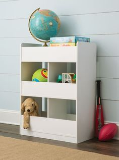 With open cubbies on both sides, our new #KidSpace Storage Unit gives your child easier access to toys and books.