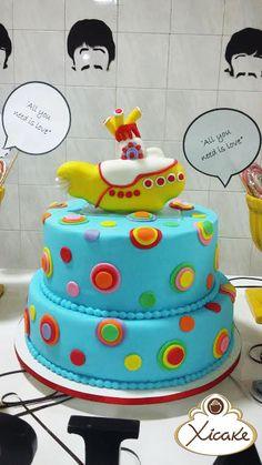 Cake Yellow Submarine Beatles