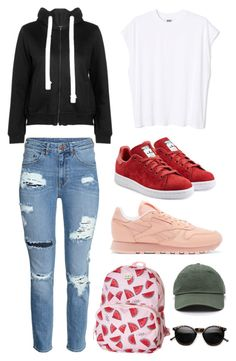"""""""don't talk to me"""" by pervalot on Polyvore featuring adidas Originals, Reebok and Roxy"""