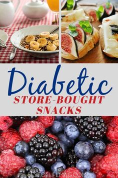 The best diabetic snacks store bought are the ones that help you manage your diabetes but also are delicious and easy to find. Diabetic Smoothie Recipes, Healthy Recipes For Diabetics, Diabetic Snacks, Healthy Drinks, Low Carb Recipes, Diabetic Tips, Eating Healthy, Healthy Foods, Clean Eating