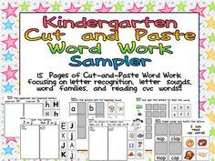 Kindergarten Celebration: Word Work FREEBIE