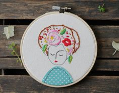 Embroidery Hoop Art by ElenaCaron on Etsy