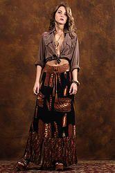 90's Fly High Maxi Skirt M/L/XL - Vintage 90s Feather Print Split Panel Hem Boho Hippie Airy Maxi Skirt M/L/XL
