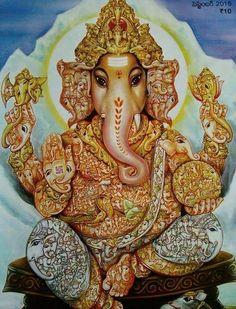 Sri Vinayakar-Zoom this to see 108 Vnayakars inside / Embodied <3