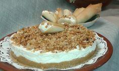 Receta para preparar la tarta de almendras. Sus ingredientes principales son nata, almendras, chocolate blanco, gelatina y azúcar.
