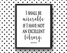 Pride and Prejudice printable literary quote art, perfect literary gift for book lovers or Jane Austen enthusiast! Instant Download. #ad #oybpinners
