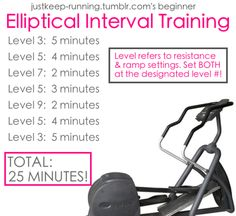 I think this machine is the biggest waste of time but this interval training has changed my mind!