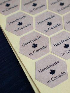 hexagon handmade in canada brown kraft paper by ctdscraftsupply