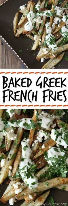 Baked Greek French Fries Recipe | Food And Cake Recipes