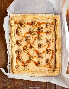 Wegański mazurek kajmakowy Vegan Baby, Tahini, Lasagna, Bread, Sweet, Ethnic Recipes, Food, Holidays, Recipies