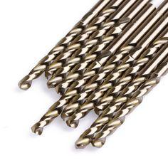 10Pcs/Set 4mm M35 Triangle Shank HSS-Co Cobalt Twist Drill Spiral Drill Bit