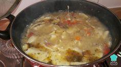 Receta de Pantrucas chilenas - Paso 7 Chilean Recipes, Chilean Food, Comida Latina, Cheeseburger Chowder, Stew, Cooking, Health, Chowders, Fitness