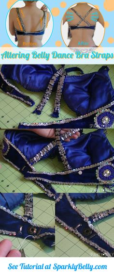 how to fix loose straps of a belly dance bra.