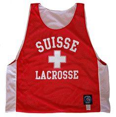 Switzerland Suisse Lacrosse Pinnie