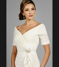 Evening occasion makeup & hair style in Daymor Couture 331... Perfect for a mother of the bride or groom!
