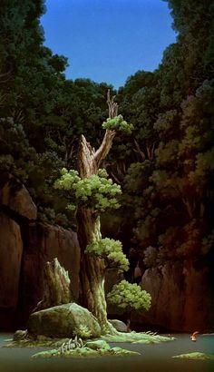 Celebrate The Birthday Of Hayao Miyazaki With These Wallpapers- Princess Mononoke Hayao Miyazaki, Studio Ghibli Background, Animation Background, Fantasy Landscape, Landscape Art, Mononoke Forest, Art Studio Ghibli, Personajes Studio Ghibli, Ghibli Movies