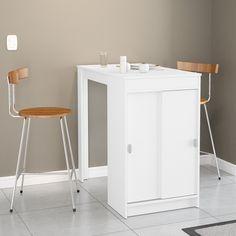Ideal para ambientes pequenos e refeições rápidas, essa mesa deixa a decoração ainda mais moderna!
