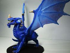 Adult Blue Dragon  Original Model From http://www.shapeways.com/designer/mz4250/creations